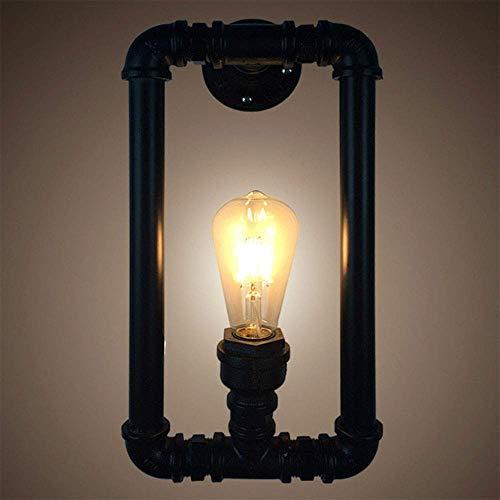 Aplique sala dormitorio led industrial moderno arr Industrial retro del estilo de tubería de acero de doble metal del tubo de agua lámpara de pared lámpara de pared de luz, American Bar Restaurante fo