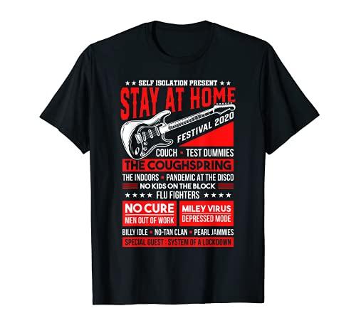 Funny Music Festival Concert Quarantine Edition 2020 Parody T-Shirt
