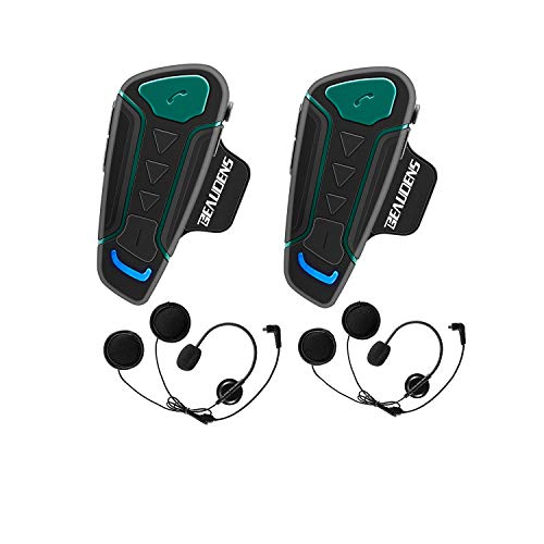 Intercomunicador Casco Moto Bluetooth, BEAUDENS Comu