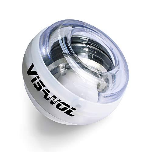 Visanol Auto-Start Wrist Trainer Wrist Ball Wrist Muscle Wrist Ball Gyro Arm Exerciser Strengthener LED Fitness Ball