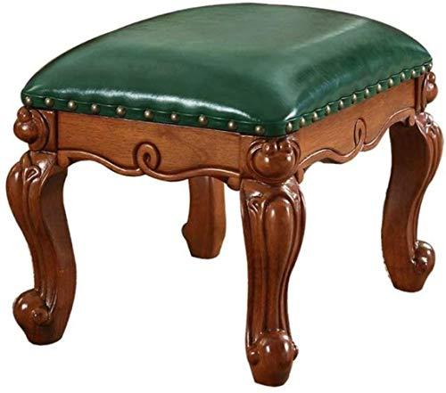 FZWAI Europese minimalistische massief houten kaptafel krukje dressing kruk Koreaanse pastorale merk make-up stoel slaapkamer zitten kruk (Color : #2)