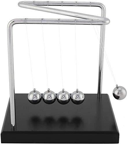 FTVOGUE Newtons Wiege Balance Stahlkugeln Physik Wissenschaft Pendel Stahlkugel Schreibtisch Ornamente Spielzeug (02)