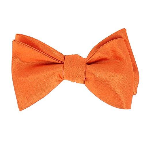 CravateSlim Noeud Papillon Orange à Nouer - Noeud Papillon Mariage