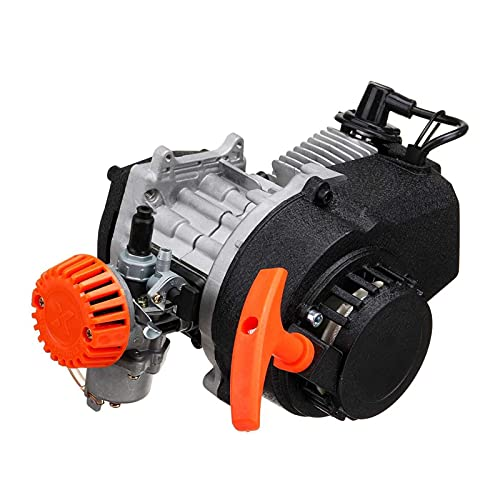 XIAOXIN OUXINDA 49CC 2 Stroke Pull Start Motor Motor Carburador Filtro de Aire Ajuste para Mini Pocket Rocket Pit Quad Dirt Bike ATV Encendido (Color : Zwart)
