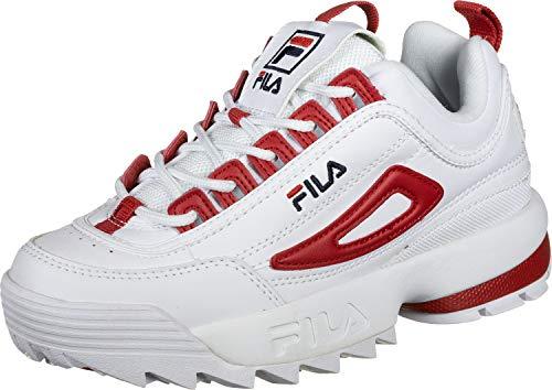 Fila Scarpe da Donna Sneaker Disruptor CB Low Wmn in Pelle Bianca 1010604-02A