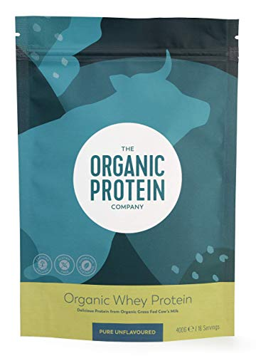 Organic Whey Protein Powder - Grass Fed, No Additives, No Gluten (400 grams)