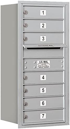 Salsbury Industries 3709S-07ARP 4C Mailbox Aluminum Popularity Horizontal Max 50% OFF