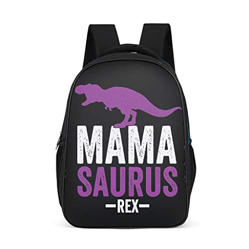 Zhenxinganghu Mama Saurus Rex Durable Laptop Book Bag Theft Proof Waterproof For 15 Boys Girls, Polyester, grey, One Size