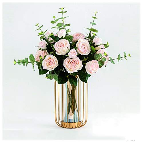 NYKK Künstliche Blume Künstliche Blumen Combo for Hochzeit Bouquets Arrangements Party, Geschenk-Freundin oder Freund Silk Blume Kunststoff künstliche Blume Ewige Blume (Color : Pink)