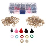 kesoto 50pcs 12mm Mix Color Plastic Glitter Safety Eyes + 25pcs Velvet Safty Noses