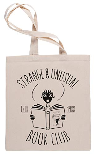 Wigoro Unusual Book Club - Beetle Juice Einkaufstasche Tote Beige Shopping Bag