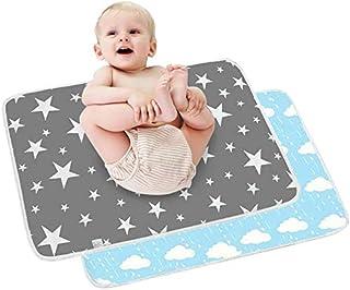 2 st baby skötmatta – spädbarn resa hopfällbara skötmattor, stora vattentäta tvättbara bebisblöjbytesmadrasser, nyfödda oc...