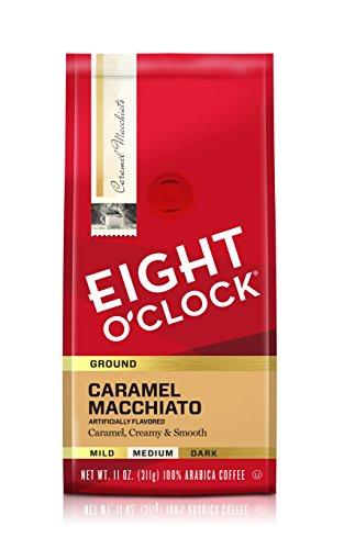 Eight OClock Coffee Caramel Macchiato, Medium Roast, Ground Coffee, 11 Ounce (Pack of 1), 100% Arabica, Kosher Certified