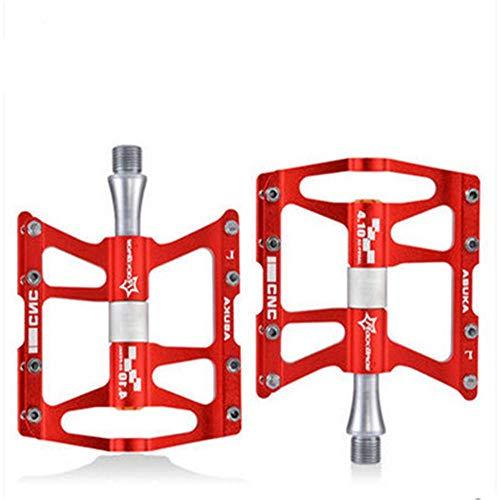 ddmlj Pedal De Aleación De Aluminio para Bicicleta De Montaña Pedal Ligero para Bicicleta De Carretera-Rojo