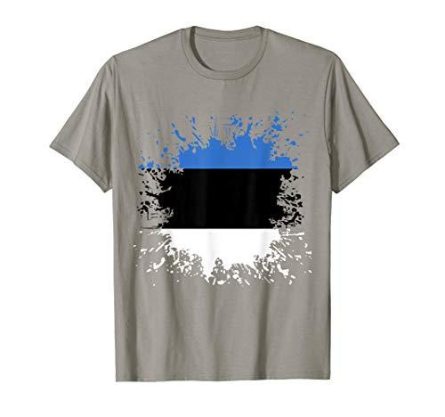 Estland Flagge Estnische Fahne T-Shirt Eesti Vabariik T-Shirt