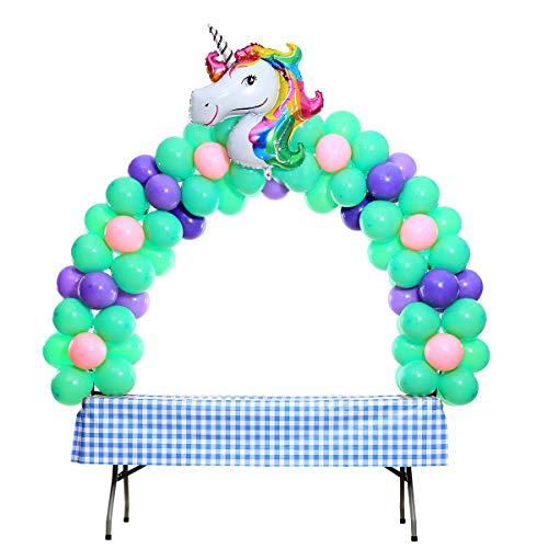 Sumnos Kit Arco Palloncino Bianco per Diverse Dimensioni del Tavolo per Feste di Compleanno e Laurea di Matrimoni Natale e Tutti festeggiano Gli Eventi