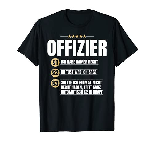 Offizier Geschenk Lustiges Beruf Soldat Bundeswehr Shirt