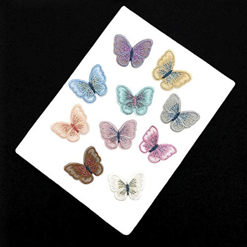 Iron on Patches/Sewing Patch,Patches for Clothes,Embroidery Applique, lace Butterfly 10pcs