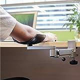 Apoio de braço com cotovelo ajustável, Mesa móvel omnidirecional com grampo para Descanso de Pulso Berço com almofada giratória para cotovelo, suporte de braço de Plataforma de extensão de m
