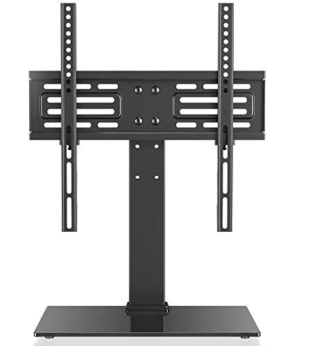FITUEYES Soporte de TV de 27-55 Pulgadas Altura Ajustable Soporte de Mesa para TV LCD LED OLED Plasma Plano Curvo TT103701GB