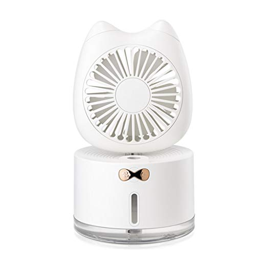 unknow Mini lindo gato humidificador ventilador colorido luces LED difusor de aire refrigerador por A-LAOWENG