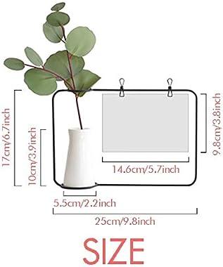 OFFbb-USA Contrast Pipe Beard Size Metal Picture Frame Ceramic Vase Decor