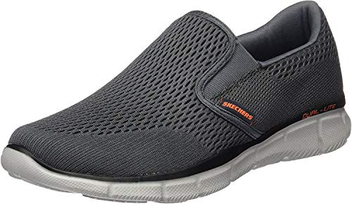 Skechers Equalizer Double Play, Men's Fitness Shoes Grey (Charcoal/Orange) 9 UK 43 EU