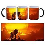 The Lion King Mufasa & Simba - Tazza da caffè in ceramica, 300 ml