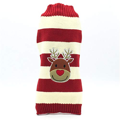 Yi-xir Perfect Design Winter Cartoon Dog Clothes Ardent Christmas Sweater For Belittled Dogs Pet Clothing Coat Knitting Crochet Cloth Jersey Perro Comfortable and breathable