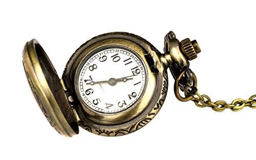 Reloj De Bolsillo tu11pequeño con kunstvollem costura para abrir y larga cadena imitación Envejecidos, Bisutería, de Kobert Goods