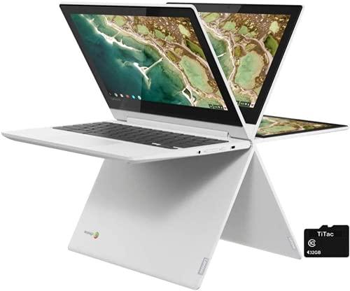 "2021 Lenovo Chromebook Flex 3 11"" 2-in-1 Convertible Laptop | 11.6-Inch HD TouchScreen IPS Display | MediaTek MT8173C Quad-Core Processor | 4GB RAM | 64 GB eMMC | USB C | HDMI | TiTac Card | Chrome OS"