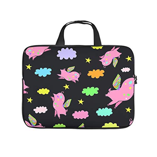 Pink flying pigs unicorn clouds 3D printing laptop case lightweight neoprene laptop case trendy notebook sleeve case tablet accessories
