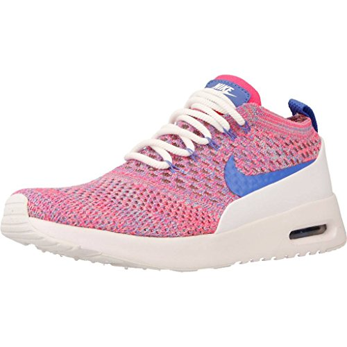 Nike - Sportswearair MAX thea Ultra Flyknit - Zapatillas - White/Medium Blue/Racer Pink
