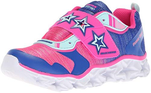 Skechers Kids Girl's Galaxy Lights-Cosmic Kick Sneaker, Silver/Lavender, 5 Medium US Big Kid