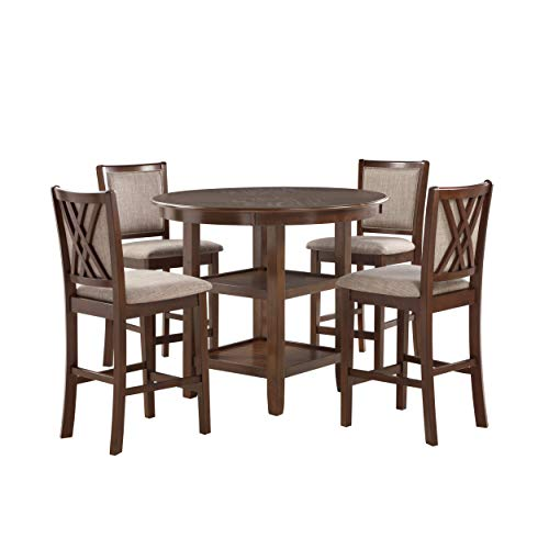 New Classic Furniture Amy Counter Dining Set, Cherry