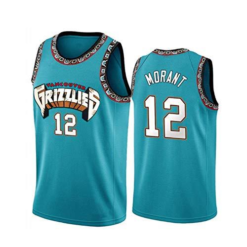 HANJIAJKL Camiseta de Baloncesto NBA #12 Grizzlies Ja Morant para Hombres,los fieles Seguidores de Grizzlies Ja Morant no Deben perderse Esta Camiseta,Verde,XXL