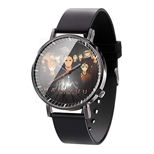 Armbanduhren Anime Haikyu !! Serie Armbanduhren 3D Vision Uhren Herren Quarz Analog Armbanduhr Mit Kieselgel Armband Anime Serie Unisex Uhr-A2