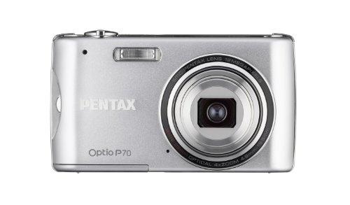 Pentax Optio P70 - Cámara Digital Compacta 12.4 MP - Plata (2.7 Pulgadas LCD, 4X Zoom Óptico)