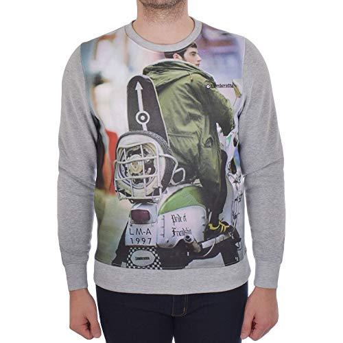 Lambretta Herren Sublimation Langärmeliges Sweatshirt - Parka Grau, XXXL