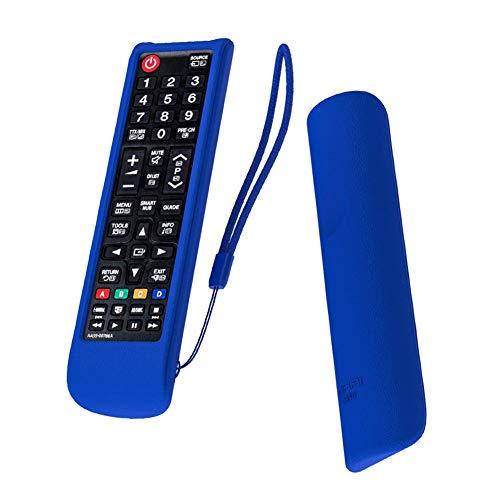 SIKAI CASE Funda de Silicona Compatibile con Mando TV Samsung AA59-00786A BN59-01175N AA59-00741A BN59-01303A, Carcasa de Protección Caja de a Prueba de Golpes, Antideslizante Carcasas - Azul