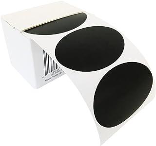 100 ovalada – Pizarra Pegatina, etiquetas, vinilo adhesivo, adhesivo decorativo en caja dispensadora