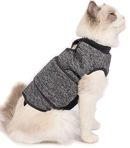 Cat Thunder Jacket Anxiety Relief Shirt for Cats, Cat Calming Vests, Anxiety Coat for Cats, Cat Stress Relief Jacket, Cat Thunder Vest for Fireworks, Thunder, Travel, Separation, Vet Visits