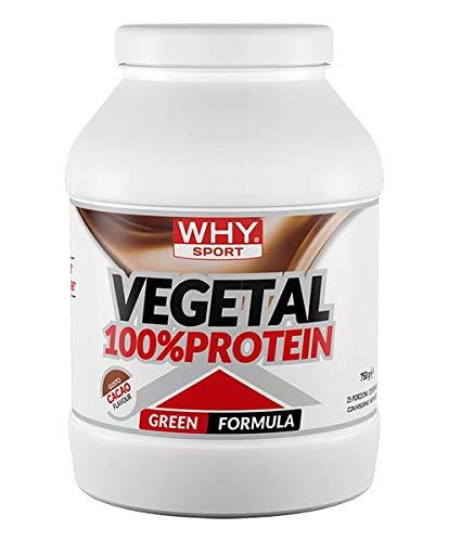 Why Sport Vegetal 100% Protein, Cacao - 750 g, 25 Porzioni