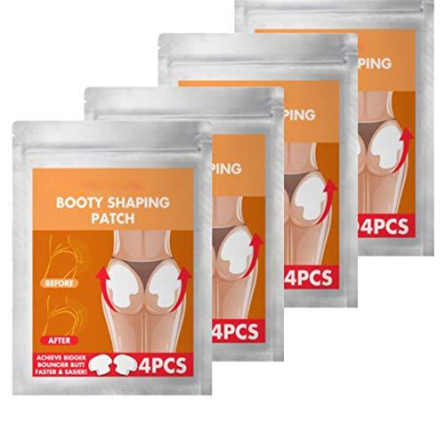 Pro Juego de parches moldeadores para levantamiento de glúteos, parche para realzar glúteos para mujeres, adhesivo moldeador para moldear el cuerpo que fortalece rápidamente los glúteos (16PCS)
