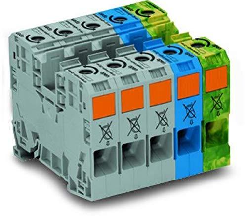 WAGO Kontakttechnik Drehstrom-Set 285-139 Ein- und mehrpolige Klemmenleiste 4045454584252