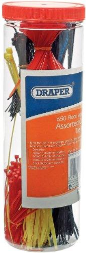 Draper 12512 Lot de 650 serre-câbles en nylon