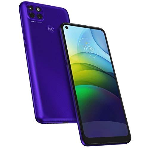 "Moto G9 Power (128GB, 4GB) 6.8"" HD+, Snapdragon 662, 6000mAh Battery, Dual SIM GSM Global Unlocked 4G LTE (T-Mobile, AT&T, Metro) International Model XT2091-4 (64GB SD Bundle) (Jazz Blue)"