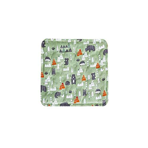 Big Incisor Bikini Mehrfarbige Haustiermatten |Hundegel Kühlmatte Teddy Pet Ice Pad Sommer Coole Sitzkissenmatte für kleine Hunde Katzen Multifunktionale Welpen Schlafmatten-Tier Grün-45x45cm