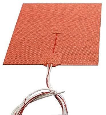 USA Import Material 200 x 200 mm 500 W 110 V 24 V 220 V Calefactor de silicona flexible Prusa i3 RepRap impresora 3D cama climatizada (12 V)