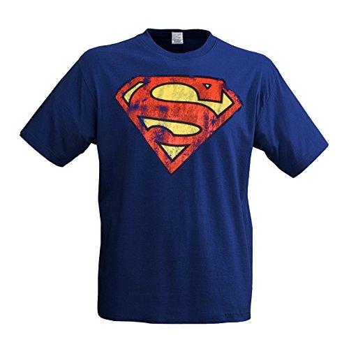 LOGOSH! rT style comics sUPERMAN t-shirt pour homme avec lOGO-dESTROY (l33) taille l bleu rOYAL